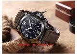 Relógio de projeto especial de quartzo com couro para os homens Fs557