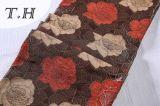 tela del sofá del telar jacquar del Chenille 330GSM con las flores hermosas