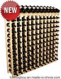 Présentoir en bois classique de 64 bouteilles pour des meubles de mémoire de vin