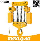 7.5t choisissent l'élévateur à chaînes électrique de vitesse avec le crochet