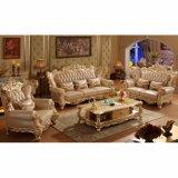 居間の家具(533)のための木製の革ソファー