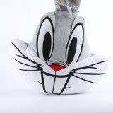 Real Like Stuffed Animal Rabbit Head Plush Pillow