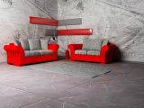نمو [ل-شب] مقصورة أريكة إطار خشبيّة تجاريّة جلد أريكة ([أول-نسك015])