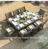Таблица стула ротанга круглого стола 4 Seater обедая установленная напольная мебель