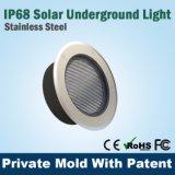 Lumière solaire souterraine de passage couvert d'IP68 DEL