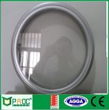 建築材料の粉の上塗を施してあるアルミニウムプロフィールの円Windows