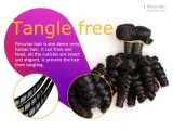 Fabricantes de la armadura del pelo de la virgen cruda Movimiento ondulado peruano Cabello humano