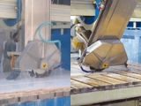 Автоматический мост увидел автомат для резки для резать верхние части гранита встречные и верхние части тщеты