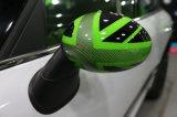 De gloednieuwe ABS Plastic UV Beschermde Kleur van Union Jack van de Sportieve Stijl Groene met Dekking de Van uitstekende kwaliteit van de Spiegel van de Koolstof voor Mini Cooper R56-R61