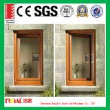 Hölzernes Korn-fertiges Aluminiumprofil-Fenster und Tür