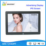 Publicidade de comércio 12 14 Entrada de vídeo digital de quadro digital de parede de 15 polegadas (MW-1203DPF)