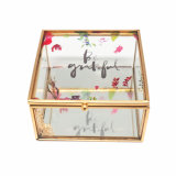 Gouden Doos van uitstekende kwaliteit jb-1065 van de Gift van de Juwelen van het Glas Handcraft