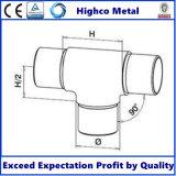 Inferriata/balaustra dell'acciaio inossidabile con montaggio a tre vie