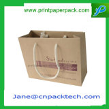 Bestellte Träger-fördernden Einkaufen-Handtaschen-Packpapier-Beutel voraus