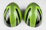 真新しいABS小型たる製造人R56-R61のための高品質カーボンミラーカバーとのプラスチック紫外線保護されたスポーティな様式の緑の英国国旗カラー