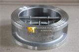 Válvula de retenção do tipo de borboleta Wafer de disco dupla de aço inoxidável