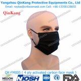 Maschera di protezione non tessuta attiva a gettare del filtro dal carbonio Pm2.5 4ply Qk-FM0005