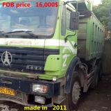 중국 본토 왼손 드라이브 팁 주는 사람 트럭