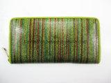 De kleurrijke Enige Portefeuille van de Ritssluiting, Glanzend Pu Dame Walllet