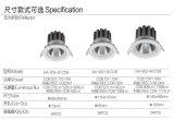 projecteurs rotatifs directs de plafond de l'ÉPI DEL vers le bas Light/5W de vente de fabrication de l'ÉPI