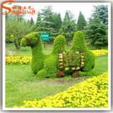 Трава завода Topiary оленей Sika украшения сада искусственная