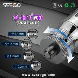 이중 코일은 기름을%s Seego의 K3 기화기 G5 주스 기화기 펜을 G 명중했다