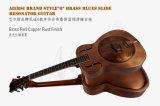 Гитара резонатора тела дешевого красного скольжения син типа ржавчины o Cupper латунная