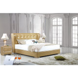 Желтая кровать кожи цвета для пользы спальни (FB3071)
