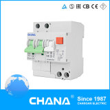 2p 4poles Electronic Type Circuit Breaker met Overcurrent Protection RCBO