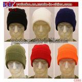 Gorrita tejida calificada Mens de acrílico Headwear (C2055) del sombrero del invierno del acceso del casquillo de reloj