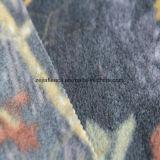 印刷の葉デザインの北極の羊毛ファブリック