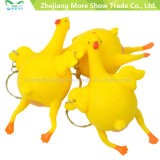 Hot Sell Halloween Vent Chicken Colocando ovo Keychain Tricky Toys for Fun