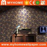 Papier peint décoratif du vinyle 3D de la meilleure des prix d'usine de mur de papier salle de séjour de vente en gros