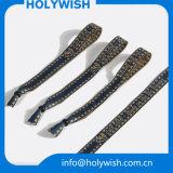Wristbands сплетенные оптовой продажей с изготовленный на заказ логосом печатание