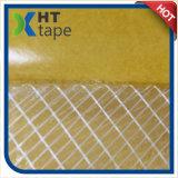 El doble echó a un lado cinta adhesiva del acoplamiento de la fibra de vidrio de cristal de la cinta