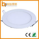 9W runde dünne LED Panel-Deckenleuchte-unten Lampe