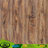 Papel decorativo da grão de madeira Satisfied do projeto para o cartão