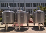 El tanque de la chaqueta de la refrigeración por agua con el tanque de mezcla de la chaqueta del mezclador