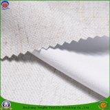 Paso casero de la materia textil 3 que cubre la tela de lino de la cortina del poliester ignífugo impermeable del apagón
