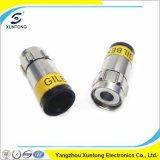同軸Rg59 RG6のケーブルコネクタのための防水圧縮のコネクター