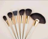 24 PCS veille de Noël pinceau de maquillage avec blanc PU Sac