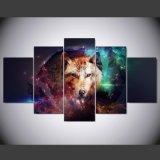 HD imprimió la lona Ym-014 del cuadro del cartel de la impresión de la decoración del taller de impresión de la lona de pintura del grupo de la pintura del lobo