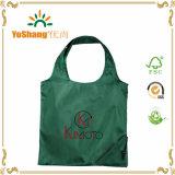 sacchetto di acquisto pieghevole riutilizzabile del poliestere 190t con il marchio su ordinazione di colore completo
