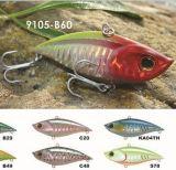 75mm coulant Vibe d'une première le prix bon marché usine --- La qualité a fait Crankbait de pêche en plastique dur fait sur commande - Wobbler - attrait de pêche de Popper de cyprins