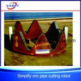 Perçage de trou de machine de découpage de plasma de commande numérique par ordinateur/machine à sous pour des armatures de pipe en acier/tube