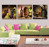 3 لون جدار فنية [أيل بينتينغ] ملخّص صورة زيتيّة منجل زخرفة يطبع نوع خيش صور لأنّ يعيش غرفة يشكّل فنية [مك-265]