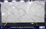 Parti superiori artificiali della barra della pietra del quarzo della decorazione di Calacatta dalla Cina