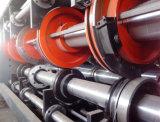 다중 홈을 파기 인쇄하는 색깔에 의하여 주름을 잡은 판지는 절단기를 정지한다