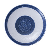 Plaque ronde bleue et blanche de mélamine de vaisselle/mélamine (13827-10)