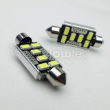 lampes blanches exemptes d'erreurs Glowtec d'ampoules du relevé intérieur DEL de Canbus 31mm 36mm 39mm 44mm C5w 5630 5730 6 DEL SMD du feston 1PCS